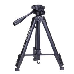云腾(YUNTENG) VT-888 精品便携三脚架云台套装 微单数码单反相机摄像机旅行用 优质铝合金超轻三角架黑色 ZX.284