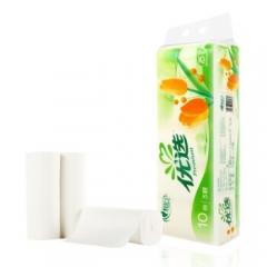 心相印 优选无芯卷纸 纸巾卫生纸 卷筒纸厕纸手纸 75g*10卷    QJ.201