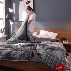 九洲鹿 夏被家纺 全棉可水洗夏凉被单人双人空调被夏天薄被子 200*230cm BC.055