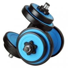 诚悦哑铃杠铃10公斤kg蓝色可拆卸天然彩胶男士女士运动健身器材 CY-121   TY.1196