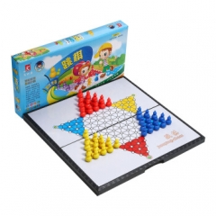 先行者跳棋磁性折叠跳棋玩具E-5 中号便携式桌面游戏   TY.1199