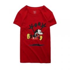李宁 LI-NING   AHSN778-2迪士尼米奇联名款女子短袖文化衫公牛红    165/M码     TY.1191