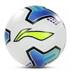 李宁(LINING)LFQK607-4训练级贴皮足球 白/荧光蓝/黑 双镜面PU+贴布橡胶内胆LFQK607-4       TY.1211
