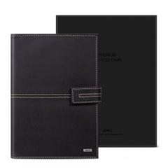 得力(deli)25K97张精装款活页皮面本 办公记事本笔记本子万用手册 咖啡色3158    XH.682