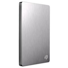 希捷(Seagate)2TB USB3.0移动硬盘 Backup Plus睿品 2.5英寸 金属拉丝外壳 轻薄便携 皓月银(STDR2000301)   PJ.353