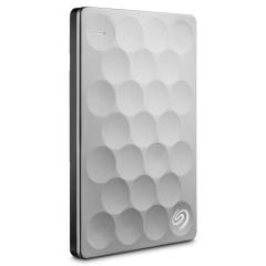 希捷(Seagate)1TB USB3.0移动硬盘 Ultra slim 睿致  9.6mm轻薄便携 银色(STEH1000300)   PJ.365