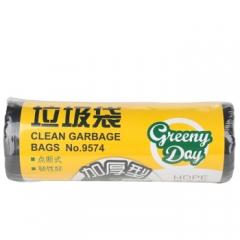 得力(deli) 加厚垃圾袋 厨房卫生间家用塑料袋 50*60cm/30只一卷装 9574   QJ.212