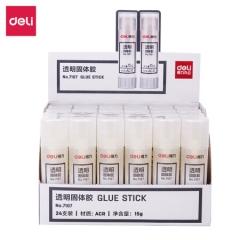得力(deli)7107 15g高粘度手工固体胶/固体胶棒/固体胶水手工胶 24支装   XH.689