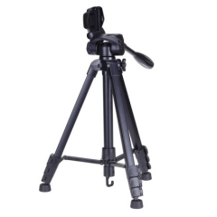 云腾 VT-688 精品便携三脚架云台套装投影仪支架微单数码单反相机摄像机旅行用 优质铝合金超轻三角架黑色 ZX.299
