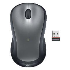 罗技(Logitech) M320 无线鼠标 电脑笔记本台式机USB办公便携 灰色   PJ.410