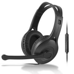 漫步者(EDIFIER) K800 单孔版 头戴式耳机耳麦  办公教育 学习培训 黑色   PJ.439