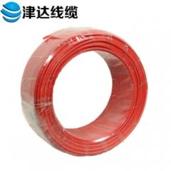 津达线缆 电线 国标多股股铜芯绝缘电线 BVR10 100米/盘(BVR10平方红色) JC.805