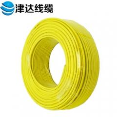 津达线缆 电线 国标多股股铜芯绝缘电线 BVR10 100米/盘(BVR10平方黄色) JC.807
