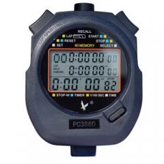 天福多功能秒表计时器闹钟电子户外运动裁判田径跑步比赛专用记忆三排60道PC3860   TY.1237