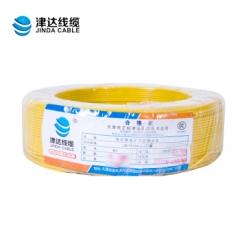 津达电线国标铜芯电线BV4平方单芯 单股硬线国标100米(4平方黄色)   JC.379