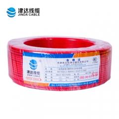 津达电线国标铜芯电线BV4平方线单芯 单股硬线国标100米(4平方红色)  JC.378