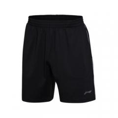 李宁 LI-NING AAPM145-2 羽毛球系列 男 比赛裤 标准黑  L-3XL(号码备注)TY.1240