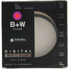 B+W uv镜 滤镜 67mm UV镜 MRC NANO XS-PRO 超薄多层纳米镀膜UV镜 保护镜 ZX.307