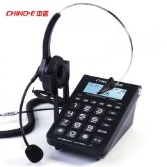 中诺(CHINO-E)电话机座机 耳麦电话 适用于话务员客服呼叫中心 C282黑色  IT.651