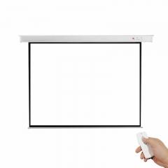 红叶(HONG YE) 100英寸4:3玻纤电动遥控幕布  (不含安装)IT.657