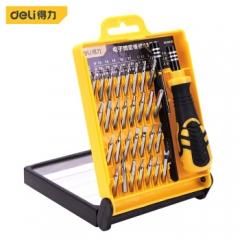 得力(deli) 多功能精密维修电子螺丝批组套33件螺丝刀套装 DL1033D  JC.843
