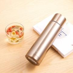 得力(deli)子弹头保温杯喝水杯 不锈钢便携保温杯17651  500ml 金色  CF.072
