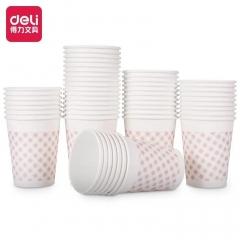 得力(deli) 一次性纸杯250mL  9570 50只/包 CF.075