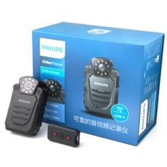 飞利浦(PHILIPS)VTR8200 64G执法取证 便携音视频行车记录仪1296P高清摄像机 执法仪 录音笔 拍照 激光定位 ZX.324