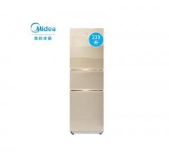 美的(Midea)239升 风冷无霜静音节能 冰箱  BCD-239WTGM  格调金  DQ.1380