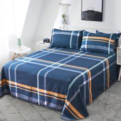 南极人NanJiren 全棉床单单件 四季纯棉单人学生宿舍被单床罩 1.2米 160*230cm  BC.068