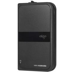 爱国者(aigo)500GB USB3.0 移动硬盘 HD816 黑色 多功能无线移动硬盘 机线一体    PJ.484
