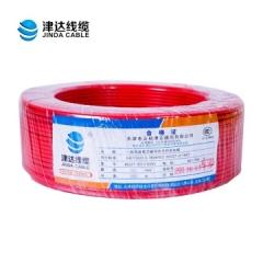 津达线缆 BV2.5平方单股铜芯100米 红色 JC.856