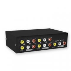 迈拓维矩(MT-viki)AV切换器三莲花DVD机顶盒TV电视音视频转换器 MT-431AV 4进1出 4口   PJ.497