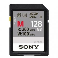 索尼(SONY) 128G高速SD存储卡A9 A7RM2 M3 RX100M6摄像机内存卡 SF-M128 128G SD卡 ZX.330