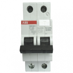 ABB断路器 1P25A漏电保护器微型空气开关带漏保 GSH201 AC-C25  JC.868