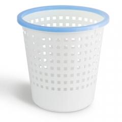 得力(deli)垃圾桶家用 翻盖 清洁桶家用9554带压圈垃圾桶 11.5L    QJ.240