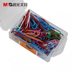 晨光(M&G) ABS91699 盒装28mm彩色回形针 100枚/盒 曲别针      XH.711