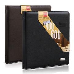 得力(deli) 名片夹名片册商务男女款式大容量硬皮材质/400张 5793    颜色随机(黑色/棕色)   XH.716