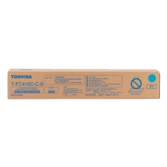 东芝(TOSHIBA)T-FC415C-C-S青色原装碳粉(墨粉)适用2010AC/2510AC/2515AC/3015AC/3515AC/4515AC/5015AC   HC.995