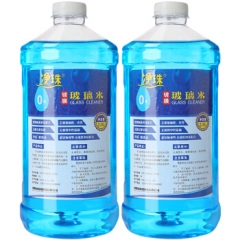 净珠 玻璃水0度2L*2瓶装 开盖即用去油膜去污剂雨刷精清洗剂      QJ.254