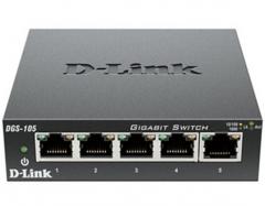 友讯(D-Link) DGS-105 千兆非网管交换机 5个千兆电口 桌面型非网管交换机 铁壳 可壁挂WL.422