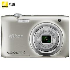 尼康(NIKON) Coolpix A100 便携数码相机(2005万像素 2.7英寸屏 5倍光学变焦 26mm广角)银色 ZX.346