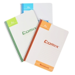 齐心(COMIX)A5/50张线圈软面抄笔记本子文具/软抄本/记事本  C4514    BG.330