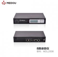 铭道(MEDOU)MDL嵌入式电话录音仪一体机8路独立式电话录音 铭道录音仪MDL2008(8路500G硬盘)  IT.820