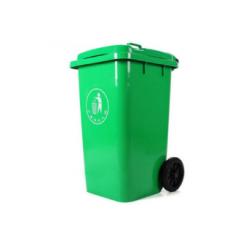 白云垃圾桶 120L 翻盖 带轮室外垃圾桶QJ.289