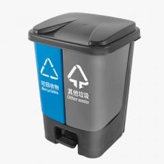 羽佳双桶分类垃圾桶240L 可回收物与其他垃圾    QJ.296