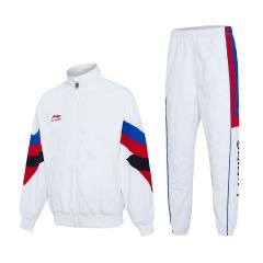李宁梭织运动套服男女款 AACP015-1 M码白色 TY.1257