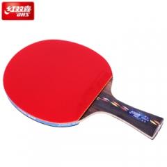 红双喜(DHS)乒乓球拍 五星直拍R5006C碳素底板 双面反胶成品单拍   TY.1265