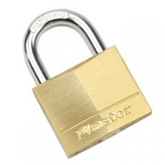 玛斯特(Master Lock)黄铜挂锁家用实心仓库大门锁140MCND JC.932