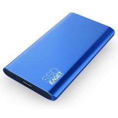 忆捷(EAGET)512GB Type-c USB3.1 GEN2 PCIe NVME协议移动硬盘 固态(PSSD)M10 读速高达900MB/s   PJ.551